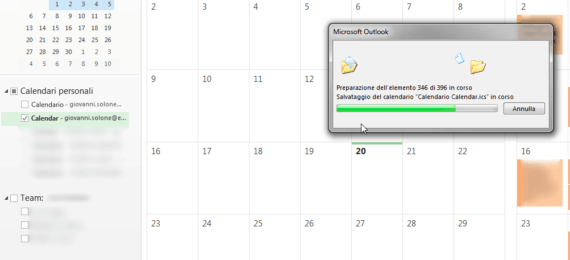 Esportare Calendario Outlook.Outlook Merge Dei Calendari Personali Import