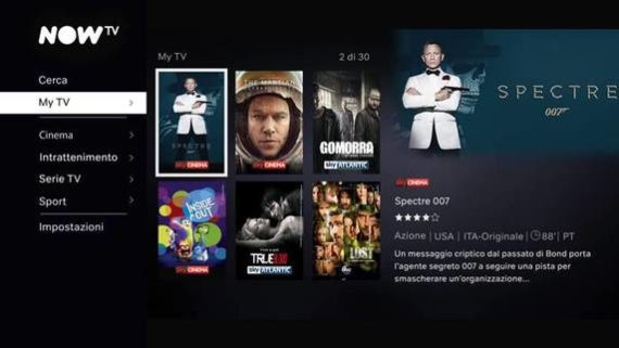 Sky Online diventa Now TV, cosa cambia? 2