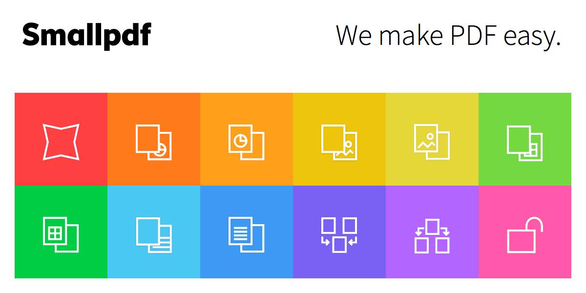 Smallpdf è il coltellino svizzero dei file PDF