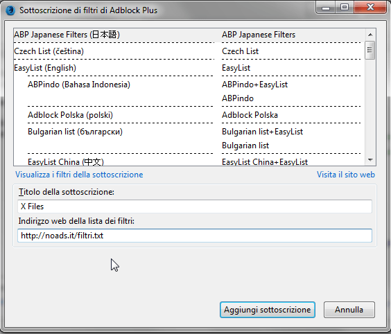 Sottoscrivere X Files (e moduli aggiuntivi) manualmente 3