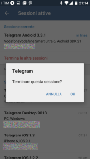 Telegram: 2-step verification e opzioni di sicurezza 6