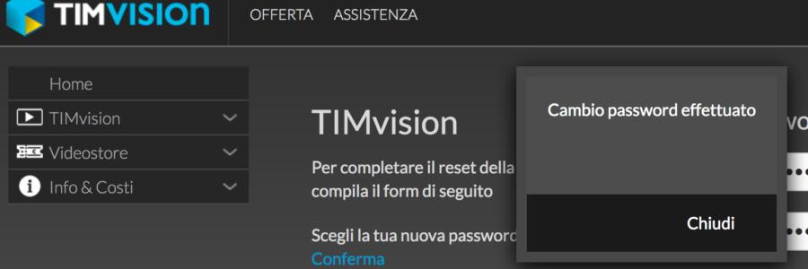 """TIMvision e i reset password """"a vuoto"""""""