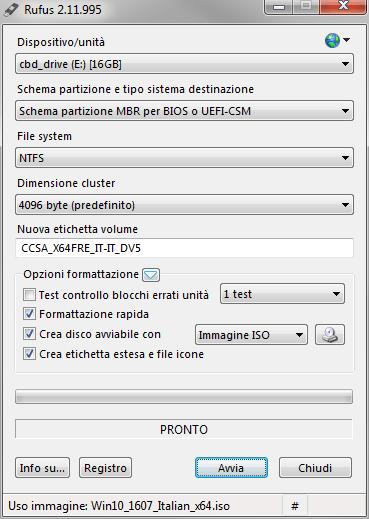 Windows 10: preparare una chiave avviabile (no-Media Tool Microsoft) 2