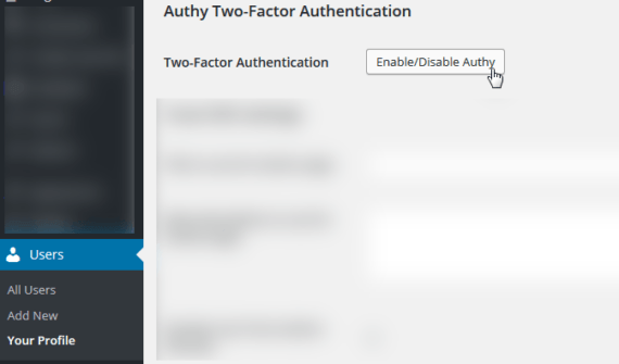 WordPress e Authy: autenticazione OneTouch