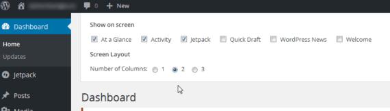 Wordpress: forzare il layout a due colonne nella Dashboard